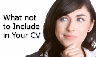 what to avoid in a CV