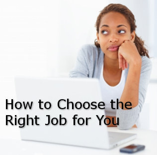 how to choose the right job