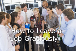 how to leave graciously